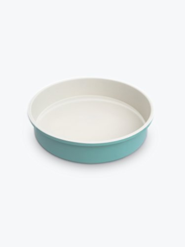 GreenLife Ceramic Non-Stick Round Cake Pan, (Blue Round Baker)
