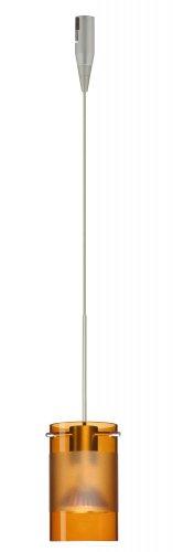(Besa Lighting RXP-6524EG-SN 1X50W Mr16 Scope Pendant with Armagnac/Frost Glass, Satin Nickel Finish)