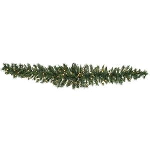 Vickerman Pre-Lit Imperial Pine Garland with 50 Warm White Italian LED Lights, 6-Feet, Green