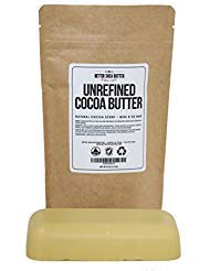 Unrefined Cocoa Butter - Raw, 100% Pure with Natural Cocoa Scent - Use in DIY Lotion, Lotion Bars and Sticks, Lip Balm, Body...