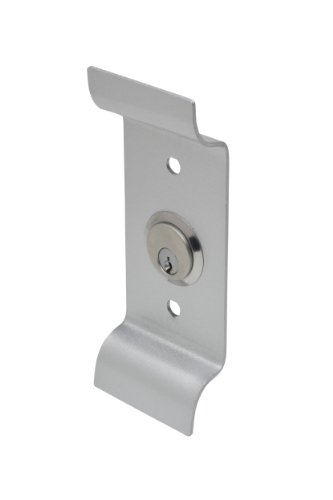 Rim Pull - Copper Creek ED-PCYL-AL Exterior Pull Plate with Cylinder for Exit Device Aluminum