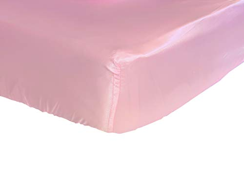 - Pink Cloud Satin Fitted Crib Sheet - Fits Standard Crib Mattresses and Daybeds 28