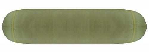 Saffron Bolster Cover Round Yoga Massage Neck Roll Pillow Faux Silk Sofa Decorative Diameter 5