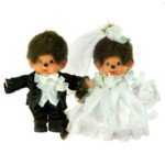 Lovely Monchhichi Wedding Anniversary Decoration Toy