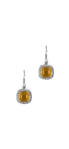 Women's Earrings 925 Sterling Silver Genuine Gemstone: Citrine