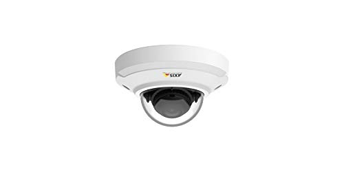 Axis Network Camera 01116-001, Mini-Dome 3MP, Indoor, PTZ, H.264/MPEG4/JPEG, F2.2 to 2.4 Fixed Iris/Focus 2.4 to 1.8 MM Lens, White.