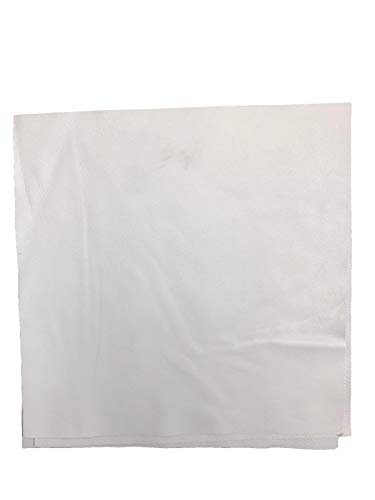 12'' x 12'' White Cowhide: Soft Natural Pebble Grain Leather 2.5-3 oz. Perfect for Handbags, Shoes, Garments, and Leather ()