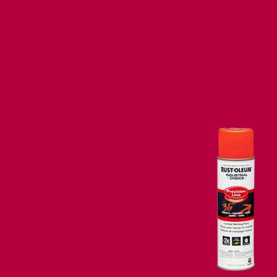 Industrial Choice M1600/M1800 System Precision-Line Red Inverted Marking Paint [Set of 12]