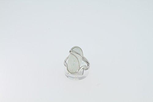 Bague en Pierre de lune 34-23 - Bijoux en argent rhodié et Pierre de lune - Toutes tailles et diverses pierres - ARTIPOL