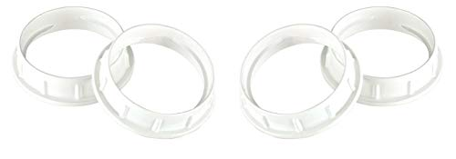 Dysmio Lighting Aluminum Shade Ring for Medium-Base Sockets (2 Pack)