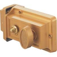 Rim Night Latch - TOOLBASIX 6296453-3L Rim Night Latch, Solid Brass