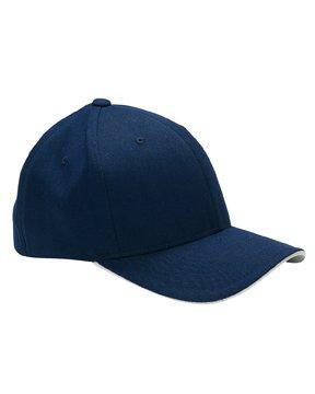 Yupoong Flexfit Cool & Dry Sandwich Cap, Navy/Silver, S/M