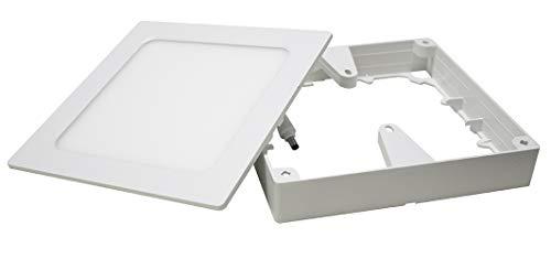 Painel LED 2 em 1 Quadrado, 12W, 3000K, ABS, Ecoforce, 17292