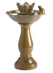 SKB Family Frog Lotus Pond Fountain Outdoor Indoor Ceramic Water Tabletop Garden pedestal fantastic