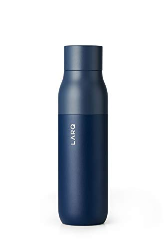 LARQ Bottle - Self-Cleaning Water Bottle and Water Purification System, Monaco Blue (17oz / 500ml)