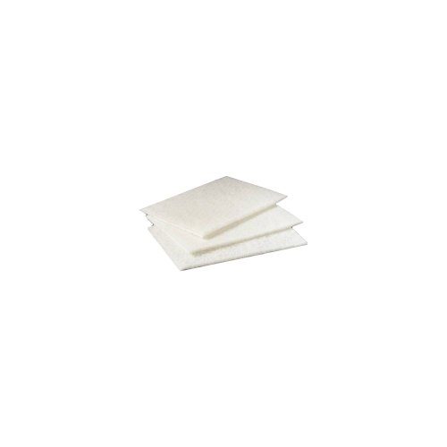 Niagara(TM) Light-Duty Scouring Pad 98N, 6in. x 9in, White, Pack Of 20