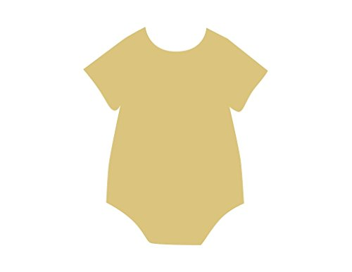 Onesie Cutout Unfinished Wood Baby Clothes Nursery Infant Pullover MDF Shape Canvas Style 1 (12