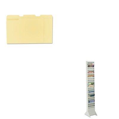 KITSAF4323GRUNV12113 - Value Kit - Safco Steel Base for Magazine Rack (SAF4323GR) and Universal File Folders (UNV12113) (Safco Display Base)