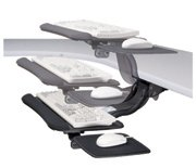Keyboard Arms With Extended Upward Height Adjustment, Allows Work In Seated and Standing Positions<br> Cobra<br>