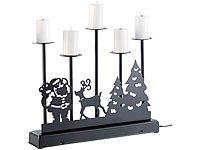 Lunartec Kerzenst/änder Elektrischer Kerzenst/änder 5-Armiger Kerzenleuchter mit elektrischen Kerzen und Netzteil