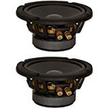 Goldwood Sound, Inc. Stage Subwoofer, Heavy Duty 8ohm 6.5″ Woofers 280 Watts each Replacement 2 Speaker Set (GW-6PC-8-2)