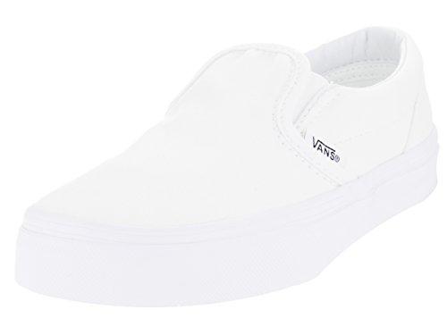 Vans Kids Unisex Classic Slip-On (Little Kid/Big Kid) True White 1 Little Kid (Vans Slip On Boys)