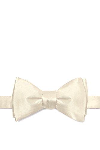 Ivory Cream Ivory Cream Silk Butterfly Bow Tie
