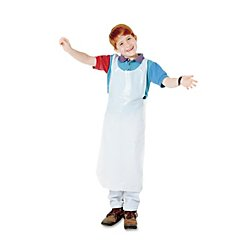 Baumgarten's(R) Children's Disposable Aprons, White, 16in. x 36in., Pack Of 100