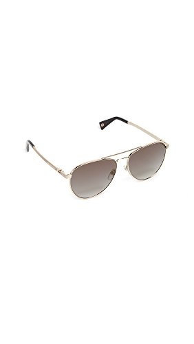 Marc Jacobs Women's Aviator Sunglasses, Gold Grey, One - Marc Jacob Aviators