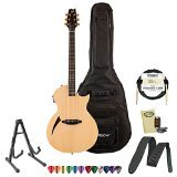 ESP LTD TL Series TL-6 Acoustic-Electric Guitar with Accessories and Gig Bag, Natural