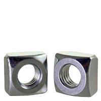 1/4''-20 Square Nuts, Grade 2 Steel, Zinc Plated (Quantity: 250) by Newport Fasteners