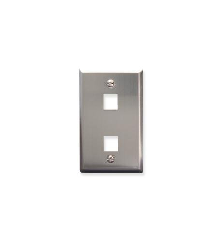 ICC FACE-2-SS 2 Port Stainless Steel Faceplate