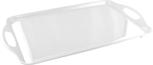 Calypso Basics by Reston Lloyd Melamine Rectangular Tray, White
