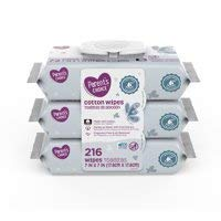 Parents Choice Cotton Wipes 3 Packs of 72 Sheets Gentle as Water with Fruit Extract Fragrance Free& pH Balanced