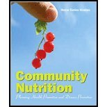 Community Nutrition - Planning Health Promotion & Disease Prevention (09) by [Paperback (2008)]