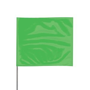 4'' x 5'' x 30'' Stake Green Glo PVC Wire Stake Flag 100Ct by PRESCO PRODUCTS