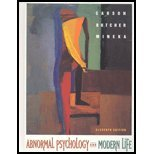 Supplemental Abnormal Psychology and Modern Life, Carson, Robert C. and Butcher, 0205325238