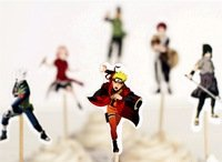 Naruto Dessert Cupcake Toppers for Birthday Party Naruto Anime Toppers (Pack of 12)]()