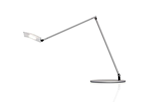 Koncept Mosso Pro Desk Lamp in Silver with a Wireless Charging Base by Mosso Pro