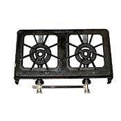 Cast Iron Double Burner Propane Stove, Outdoor Stuffs