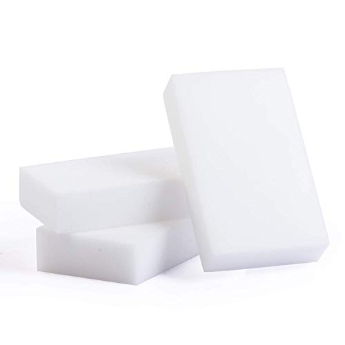 Magic Eraser Melamine Foam Sponge All Purpose Multi Surface Eco Green Cleaner for Whiteboard, Kitchen, Tile, Walls, Soap Scum, Bathroom, Shoes, Floor (20 pcs bulk pack) ()