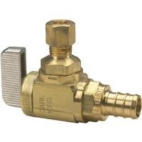 Watts PEX LFP-562 Ball Valve 1/2-Inch Barb x 1/2-Inch Barb 1/4-Inch Drain Low-Lead, Brass