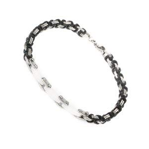 Classical Black White Ceramic Bracelets | for Women Men | Silver Cross Bangles | Fashionable Healthy Material Never Fade Jewelry | Best Gifts