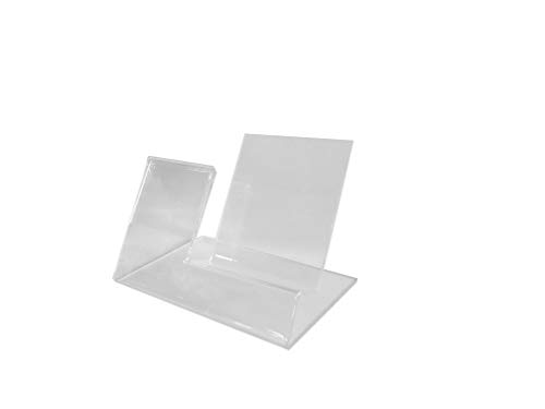 Phone Display Cell - 10pack of Acrylic Mobile Cell Phone Display Stand Holder with Advertisement Label Price Tag Holder