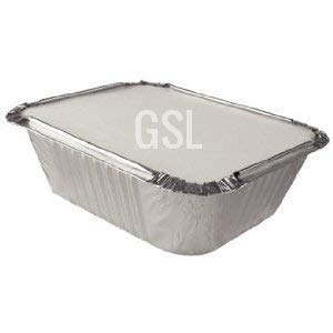 gsl 50 x no1 small aluminium foil takeaway food containers 50 lids