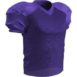 CHAMPRO Adult Stretch Polyester Practice Football Jersey, Purple, X-Large (Purple Mens Football Jersey)