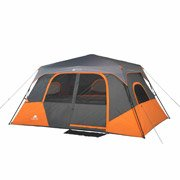 "Ozark Trail 8 Person 2 Room Instant Cabin Tent Family Camping Outdoor Height74"" - Orange"
