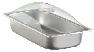 BroilKing SPL-3P 1/3 Size 2.6 qt. Chafing Pan & Plastic Lid