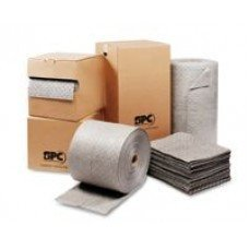 Brady® 15'' X 19'' SPC MRO Plus Gray 3-Ply Meltblown Polypropylene Dimpled Perforated Full Size Heavy Weight Sorbent Pad