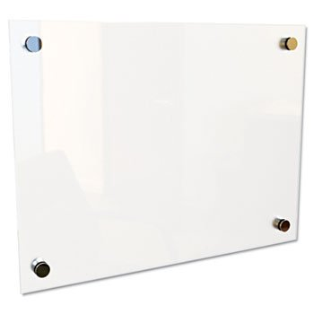 Best-Rite Enlighten Glass Board, Frameless, Frosted Pearl, 12quot; x 12quot; x 1-8quot; - Enlighten Glass Board